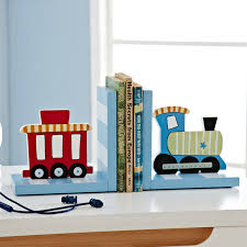 Blue And Red Unique Train Cute Desk Accessories For Kids Room