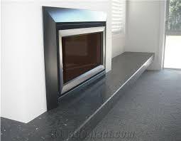 black color quartz fireplace hearths