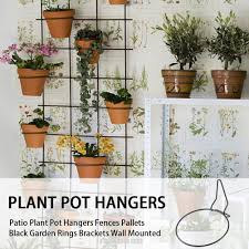 Outdoor Garden Home Patio Hanging Basket Easy Install Fences Pallets Plant Pot Hangers Shopee Philippines