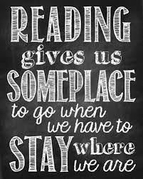 reading gives us someplace to go printable and bookmarks