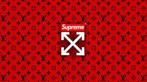 supreme x lv x off white wallpaper