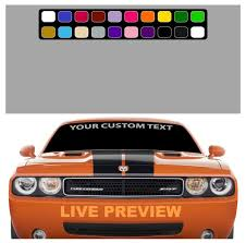 Create Your Own Custom Windshield Decal Banner Maker Car Truck Topchoicedecals