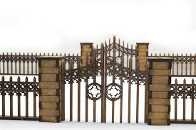 Gothic Fence With Gates And Pillars By Wwg Amazon Ca Toys Games