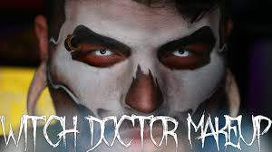witch doctor halloween makeup tutorial