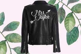 Custom Mrs Leather Jacket Iron On Heat Transfer Mrs Jacket Mrs Den The Native Bride