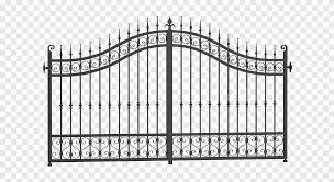 Gate Fence Wrought Iron Iron Gates Angle Outdoor Structure Png Pngegg