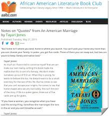 "notes on ""quotes"" from an american marriage by tayari jones"
