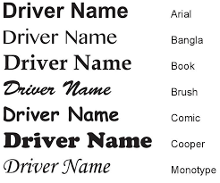 Race Car Driver S Name Decal Power Sport Graphics