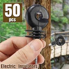 50pcs Wood Post Ring Insulator Tape Screw In Electric Fencing Fence Cord Wire Shopee Malaysia