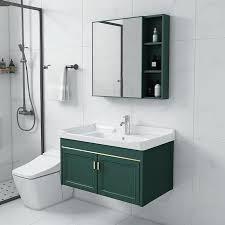 bathroom vanity mirror and cabinet
