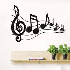 Stickers Decor Music Notes Vinyl Wall Decals Transfer