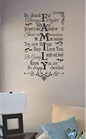 Amazon Com Js Artworks Family Be Thankful Always Forgive Vinyl Wall Decal Sticker Home Kitchen