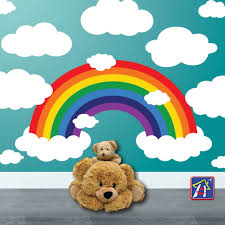 Rainbow Wall Decals Fun Bright And Colorful Decor Accessory