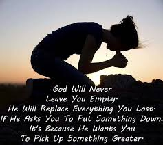 god will never leave you empty love image collections