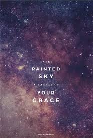 every painted sky a canvas of your grace christian lyrics