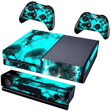 Blue Skull Cover Decal Skin Sticker For Xbox One Console 2 Controller Ebay