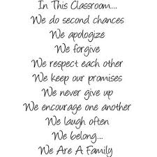 Custom Wall Decal In This Classroom We Are A Family Quote School Rules Friend Classmates Teacher Student Wall Sticker 8 X12 Walmart Com Walmart Com