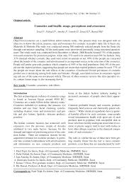 pdf cosmetics and health usage