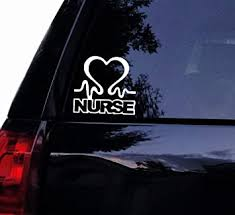 Amazon Com Tshirt Rocket Nurse Heartbeat Decal Vinyl Car Decal Laptop Decal Car Window Wall Sticker 7 Automotive