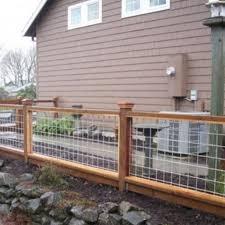Deck Railing Hog Wire Home Depot Lowes Hog Wire Fence Backyard Fences Fence Design