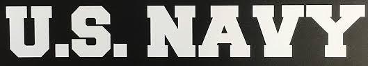 Amazon Com C60161 White U S Navy Banner Usn Decal Car Truck Window Sticker 7 5x1 3in Automotive