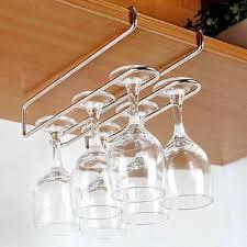 hanging wine glass holder rack kitchen