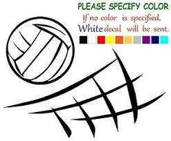 Volleyball And Net Funny Vinyl Decal Sticker Car Window Laptop Tablet Truck 11 Ebay