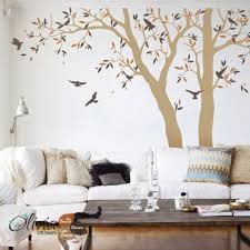 Set Of Large Tree Vinyl Decals Wall Decor Tree Sticker With Etsy