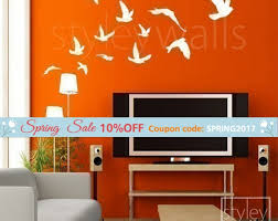 10 Off Coupon On Birds Wall Decal Flying Birds Set Of 12 Vinyl Wall Decal Flock Of Birds Decal Office Home Art Decor Birds Room Decor Wall Decal Stickers By Styleywalls