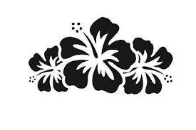 Hibiscus Flower Car Decal 3 Flower Stencil Hibiscus Flower Tattoos Hibiscus Flowers