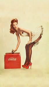 coca cola pin up android wallpaper