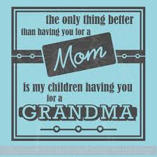 You As My Mom Grandma To My Children Wall Stickers Vinyl Decals Lettering Quote Mother S Day Gift