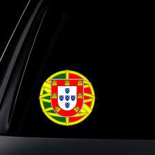 Portuguese Flag Seal Car Decal Sticker