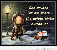 funny winter day humorous quote