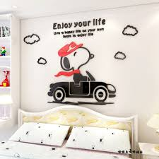 Cartoon Lovely Snoopy 3d Wall Stickers 3d Acrylic Children Bedroom Bed Background Wall Stickers Buy Cartoon Snoopy Wall Stickers Cartoon Character Wall Stickers Children Bedroom Bed Background Wall Product On Alibaba Com