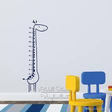 Baby Nursery Giraffe Growth Chart Wall Sticker Giraffe Height Chart Wall Decal Kids Room Children Wall Decal Cut Vinyl Oversized Wall Decals Owl Wall Decals From Joystickers 23 44 Dhgate Com