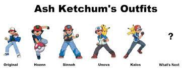 Ash Ketchen's outfits - Pokémon bức ảnh (39138419) - fanpop