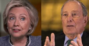 Image result for hillary and bloomberg
