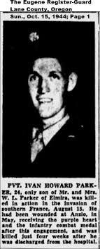 Pvt Ivan Howard Parker (1920-1944) - Find A Grave Memorial