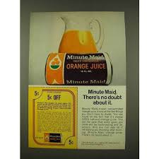 1973 minute maid orange juice ad no