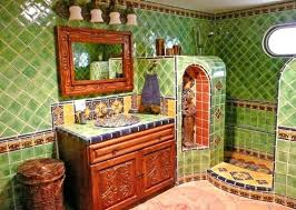 beautiful mexican bathroom vanity with