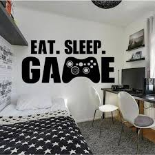Gamer Wall Decor Playstation Controller Wall Decal Eat Sleep Decor Video Game For Sale Online