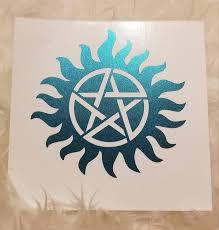 Supernatural Inspired Anti Possession Symbol Car Window Decal Supernatural Laptop Decal Spn Journal Sticker Supernatural Sigil Decals