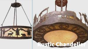 rustic lighting and fans rustic