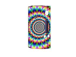 Skin Decal Vinyl Wrap For Wisemec Reuleaux Evol Dna200 Vape Mod Box Trippy Hologram Dizzy Newegg Com
