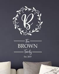 Amazon Com Personalized Family Name Signs Name Wall Decal Monogram Wall Decal Last Name Decal Family Name Decal Handmade
