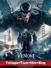 Venom (2018) BRRip [Telugu + Tamil + Hindi + Eng] Dubbed Full Movie Watch Online Free
