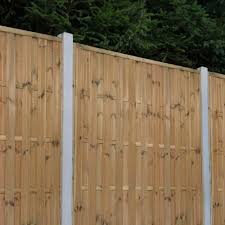 Forest Garden Vertical Hit And Miss Fence Panel