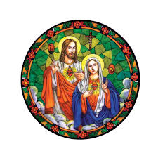 Big Offer 954a Dawasaru Sacred Hearts Of Jesus And Mary Car Sticker Waterproof Decal Laptop Truck Motorcycle Auto Accessories Pvc 13cm 13cm Cicig Co