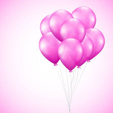 photo wallpaper pink balloons
